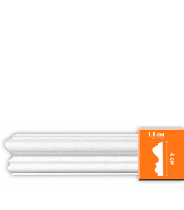 Плинтус из полиуретана Decomaster 16х40х2400 мм decomaster багет decomaster 808 552 размер 61х26х2900мм