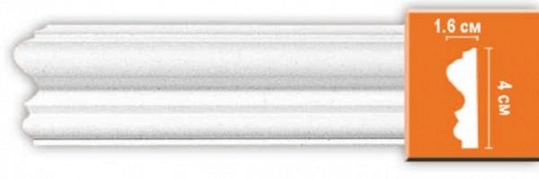 Плинтус (молдинг) из полиуретана 16х40х2400 мм Decomaster