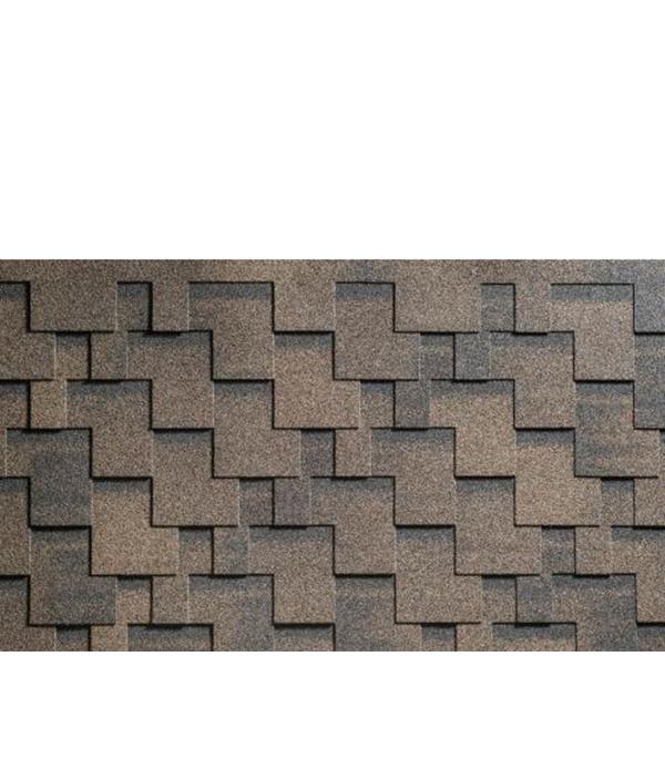 ъъЧерепица битумная серия Аккорд, цвет коричневый 3 м.кв.