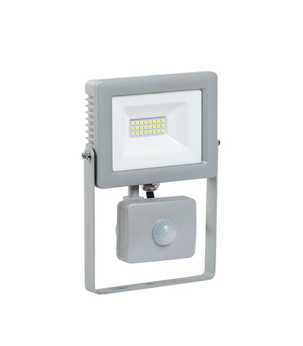 Прожектор cветодиодный  20 Вт, с датчиком движения, 6500K (холодный свет), серый