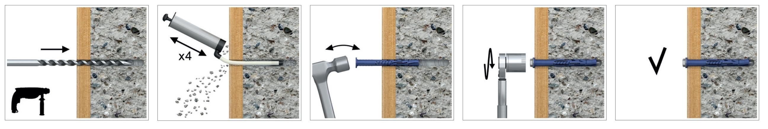 Дюбель фасадный универсальный с шурупом 10х100 (25 шт.) Rawlplug