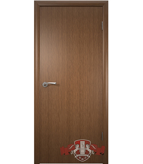 Дверное полотно Соло шпонированное  орех ПГ 700х2000 мм