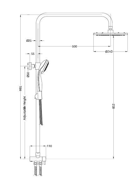 Душевая система Esko ST950