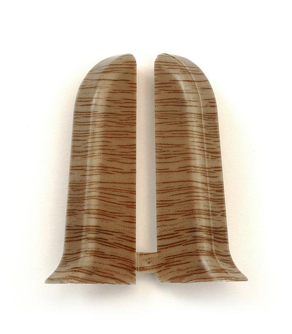 Заглушки торцевые (левая+правая) Дуб темный 55 мм