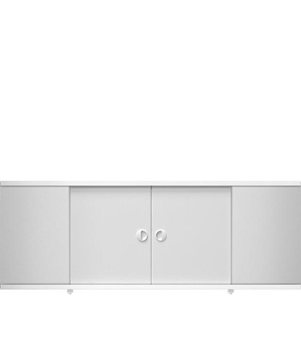 Экран ПВХ КУПЕ белый 1700 мм купить черный профиль для дверей купе