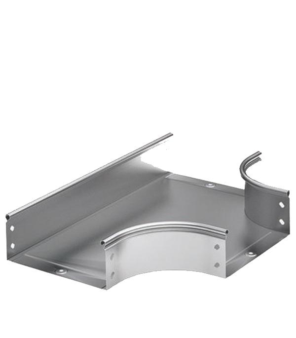 Ответвитель Т-образный горизонтальный ДКС для лотка 300х50 лоток металлический перфорированный 300х50 мм 3 м дкс