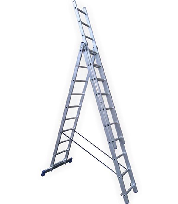 Лестница Stairs 3-х секционная бытовая 3х10 лестница алюминиевая 3 х секционная 9 ступеней в спб