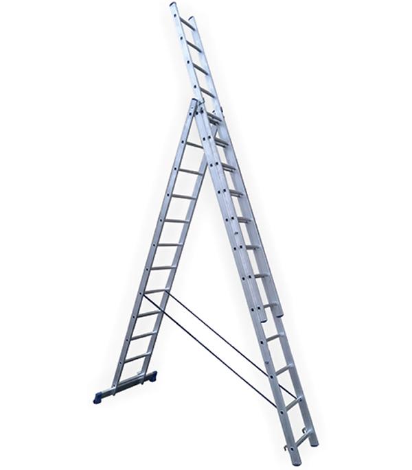 Лестница Stairs 3-х секционная бытовая 3х12 лестница алюминиевая 3 х секционная 9 ступеней в спб
