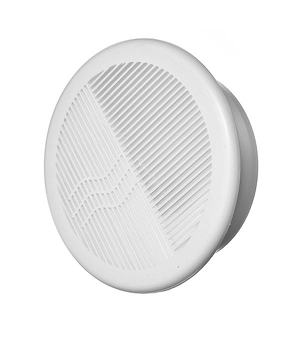 Решетка вентиляционная круглая пластиковая d200 мм c фланцем d160 мм