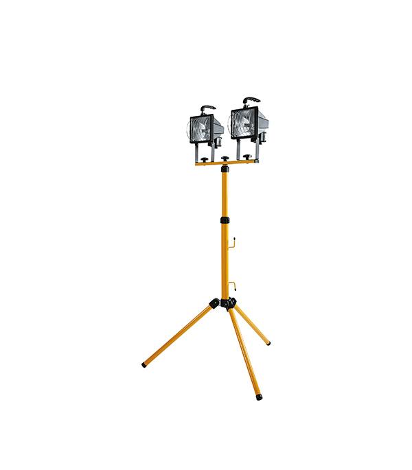 Прожектор галогенный переносной на штативе с решеткой IP44 2х500Вт 230В R7S шнур 2м