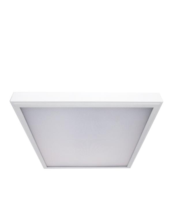 Светильник встраиваемый/накладной 595х595 светодиодный, 38 Вт, призм. рас., CSVT