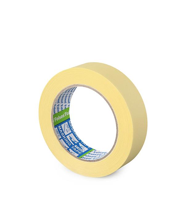 Лента малярная Folsen желтая 30 мм х 50 м лента клейкая двусторонняя folsen ткань 50мм х 5м