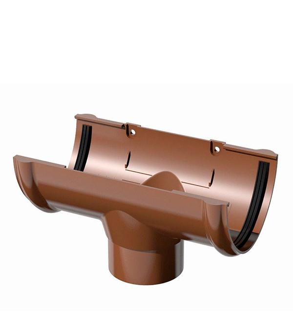 Воронка желоба пластиковая d90 коричневая Технониколь