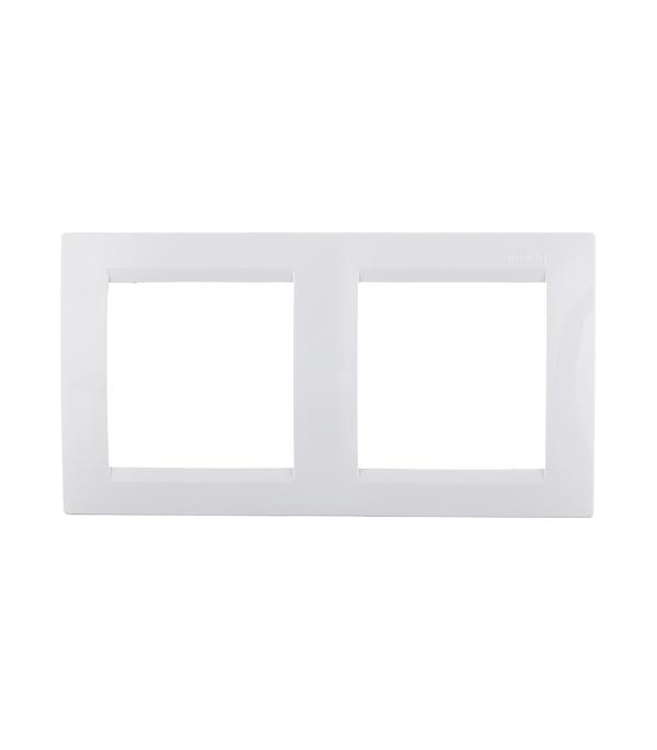 Рамка двухместная Simon 15 белая  механизм диммера 500вт 230в simon 15 белый