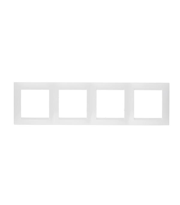 Рамка четырехместная Simon 15 белая