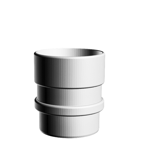 Муфта водосточной трубы (соединительная) пластиковая d100 пломбир, DOCKE LUX муфта труба труба d 16 gig