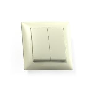Выключатель Селена с/у 2-кл. слоновая кость, 250В 10А