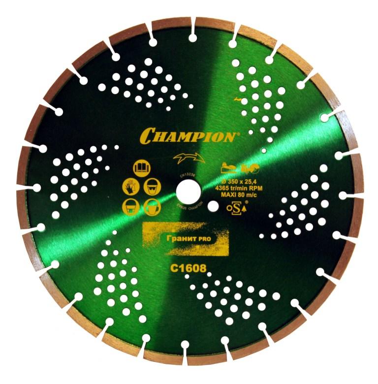 Диск алмазный сегментный по граниту 350х25,4 мм Champion Стандарт