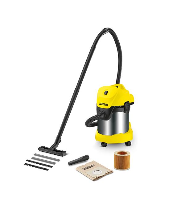Пылесос промышленный  WD 3 Premium 1000 Вт 17 л Karcher  пылесос промышленный karcher mv wd 3 premium