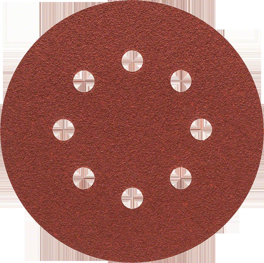 Диск шлифовальный с липучкой  Р60 d=125 мм 5 шт, перфорированный Bosch диск шлифовальный с липучкой р80 d 125 мм 5 шт перфорированный bosch