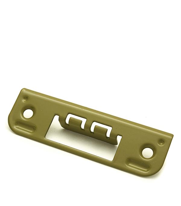 Ответная планка для врезного замка плоская 0045 (фисташка)