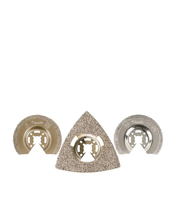 Набор абразивных насадок KWB Стандарт для МФУ (3 шт) пильное полотно для мфу по металлу 87 мм kwb стандарт