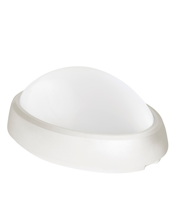 Светильник светодиодный 12 Вт овальный влагозащищенный (IP 65), 4000K (холодный свет), белый