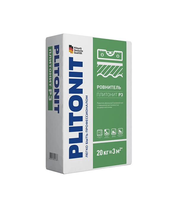 Плитонит Р3 (ровнитель для пола самовыравнивающийся), 20 кг