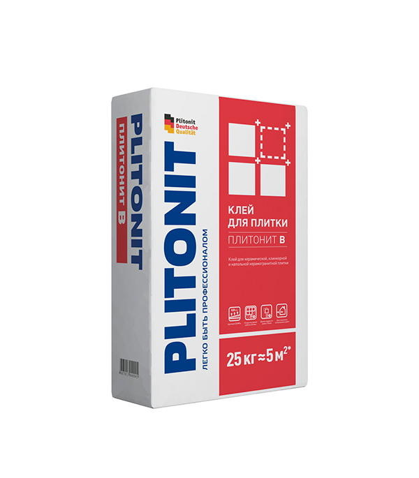 Клей для плитки PLITONIT В 25кг затирка для плитки plitonit бежевая 20 кг
