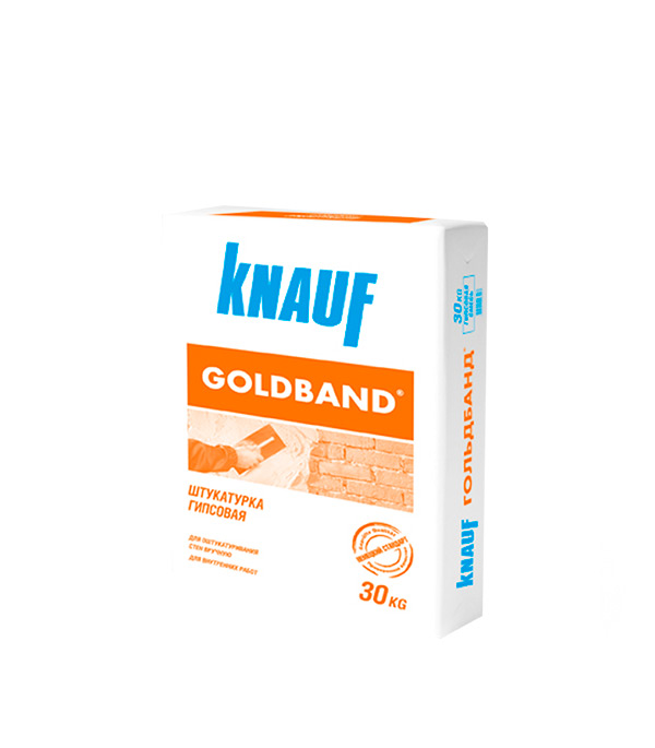 Штукатурка гипсовая Knauf Гольдбанд 30 кг ветонит профи гипс усиленный вебер ветонит штукатурка гипсовая 30 кг