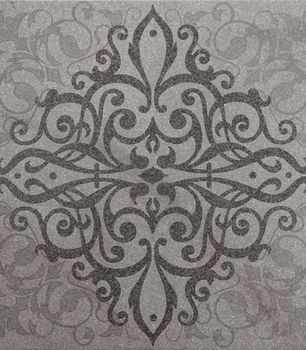 Керамогранит декор 400x400х9 мм Quartzite серый/Грасаро