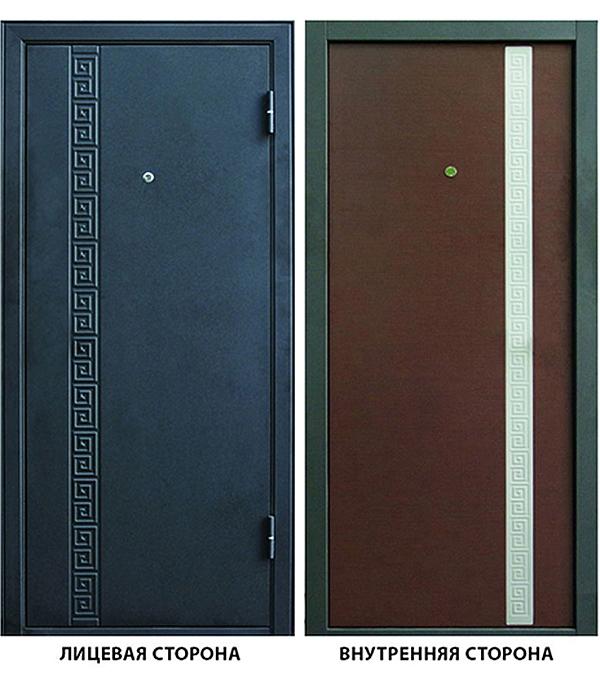 Дверь металлическая ДК Эллада 860x2050 мм правая , без цилиндра и ручки