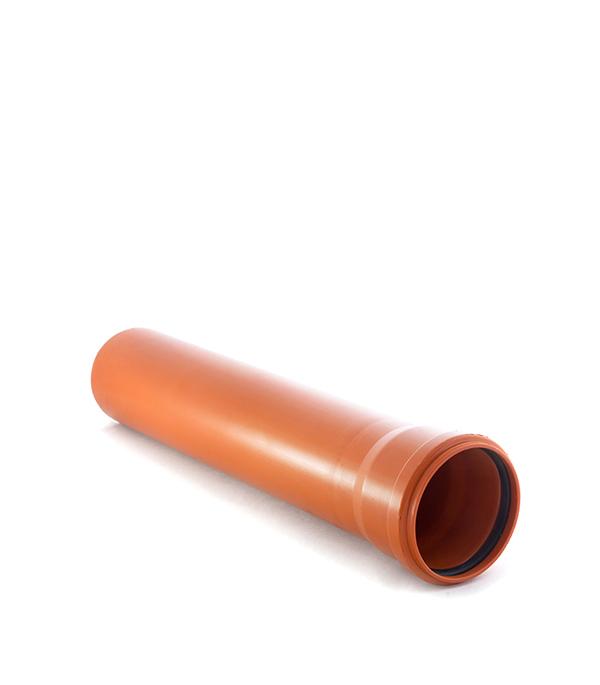 Труба канализационная наружная 110х1000 мм (НПВХ) муфта труба труба d 16 gig