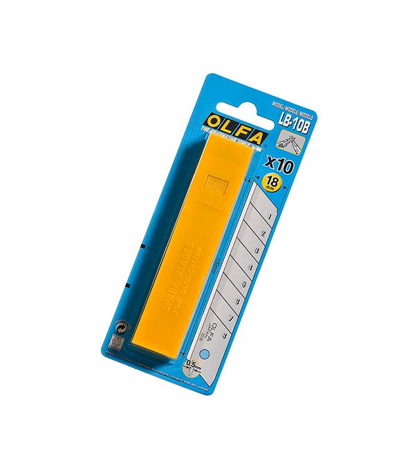 Лезвие для ножа Olfa прямое 18 мм (10 шт)