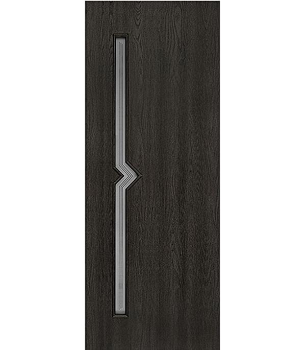 Дверное полотно с 3D покрытием Вега Седой венге 600х2000 мм, со стеклом
