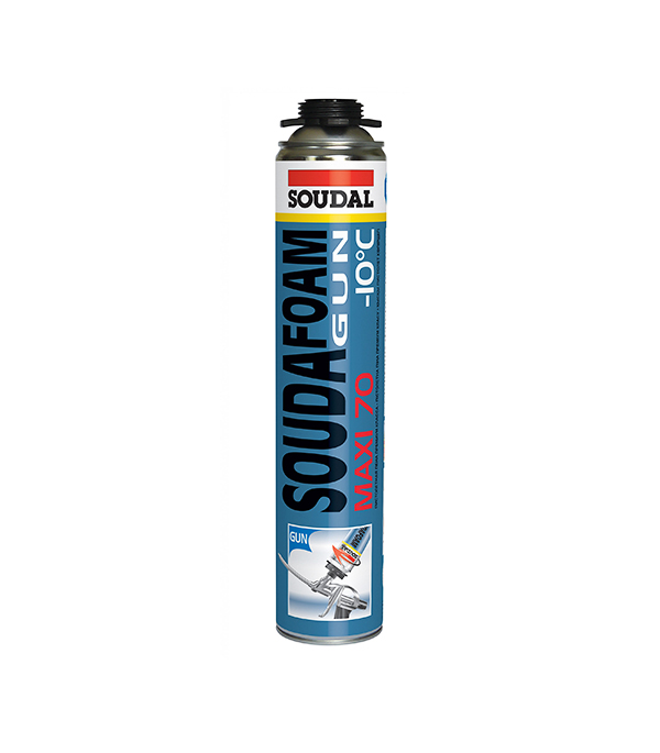 Пена монтажная Soudal Maxi 70 профессиональная зимняя 750 мл пена монтажная kapral 30 профессиональная всесезонная 750 мл