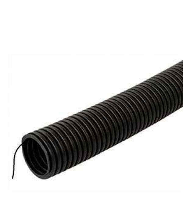 Труба ПНД 25 мм гофрированная тяжелая с зондом (50 м)