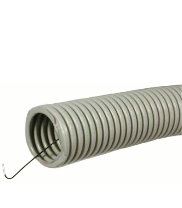 Труба ПВХ 20 мм гофрированная с зондом (25 м)