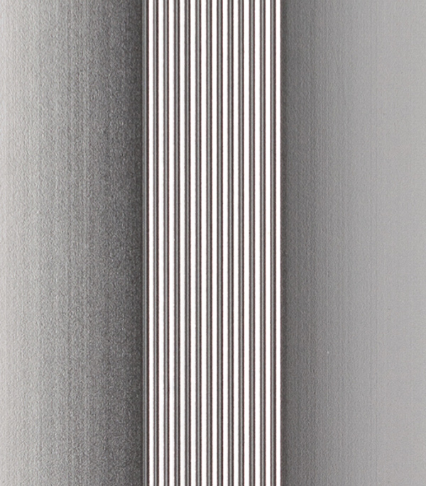 Порог для кромок ступеней 40х22х1800 мм алюминий с резиновой вставкой черная