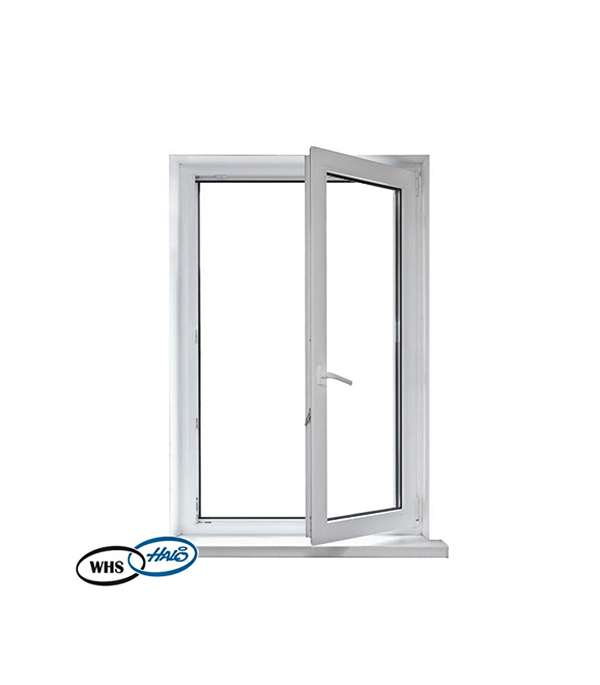 Окно металлопластиковое WHS 1160х800 мм белое поворотно - откидное правое