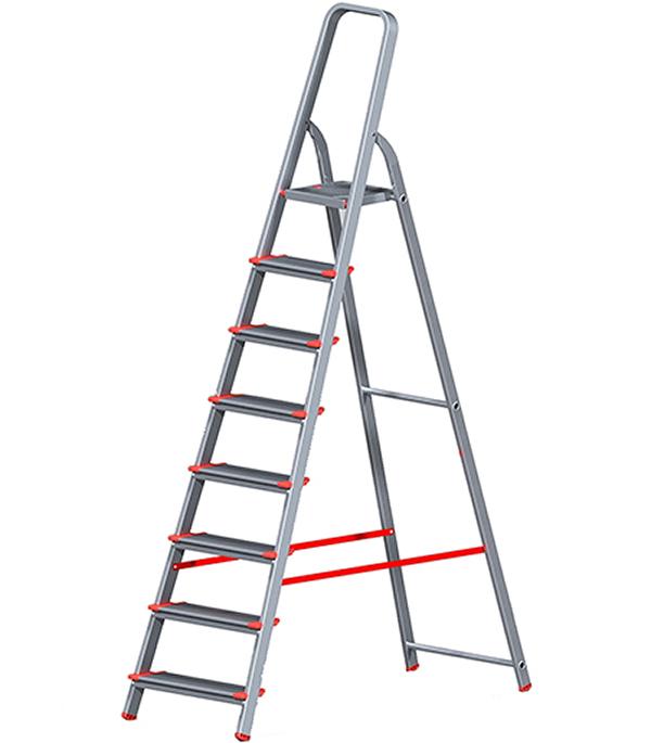 Стремянка Новая высота алюминиевая усиленная 8 ступеней стремянка новая высота nv 312 2x3 3120203