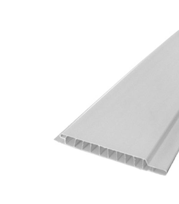 Панель ПВХ (Вагонка) белая матовая 100х3000х9 мм, Нордсайд