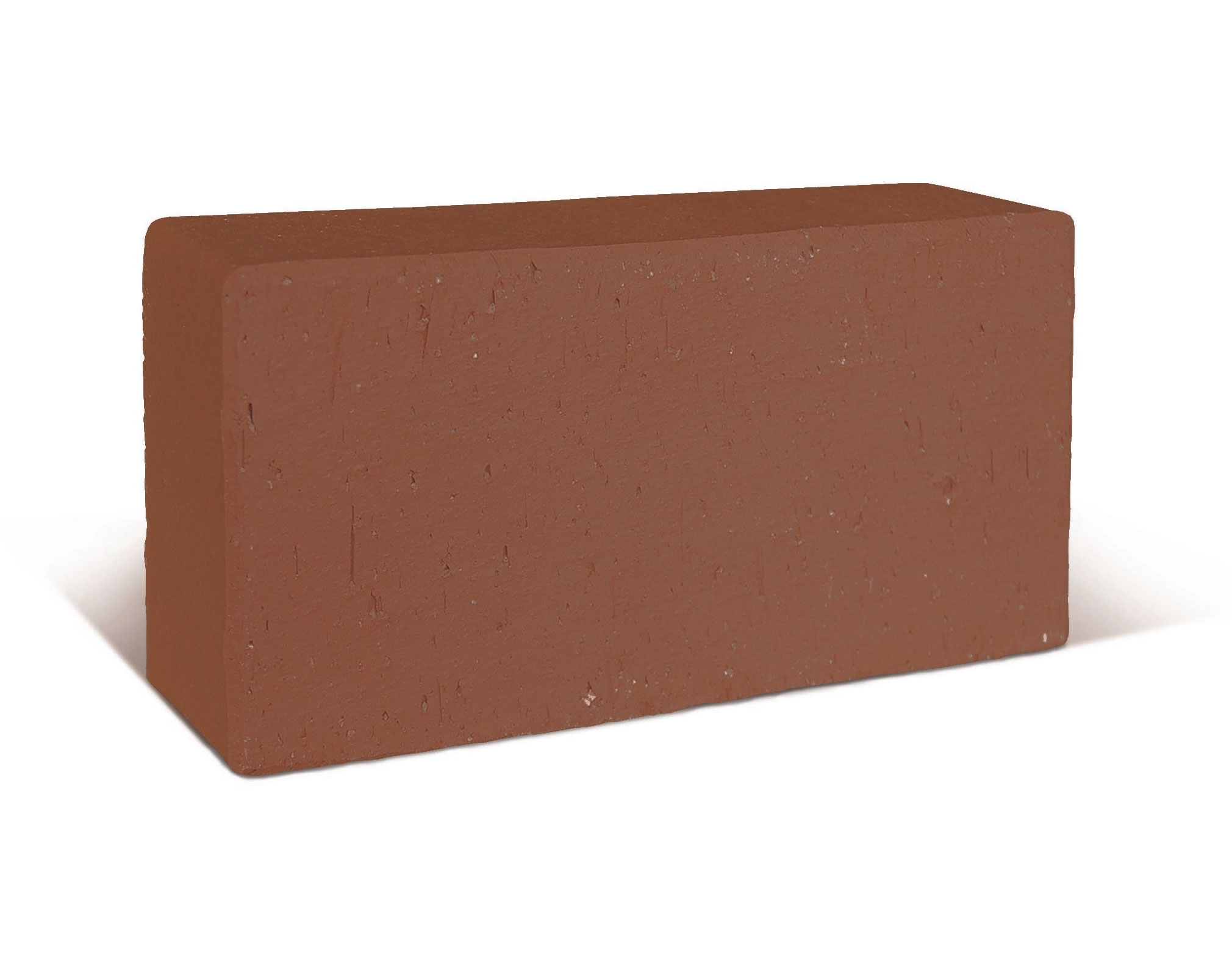 Плитка тротуарная клинкерная 200х100х50 мм  тёмно-красная флешинг