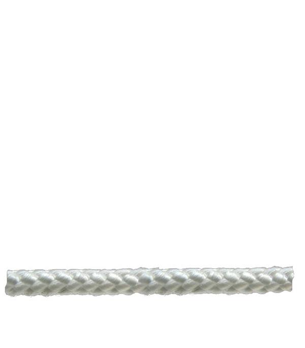 Шнур плетеный белый d6 мм полипропиленовый, повышенной плотности