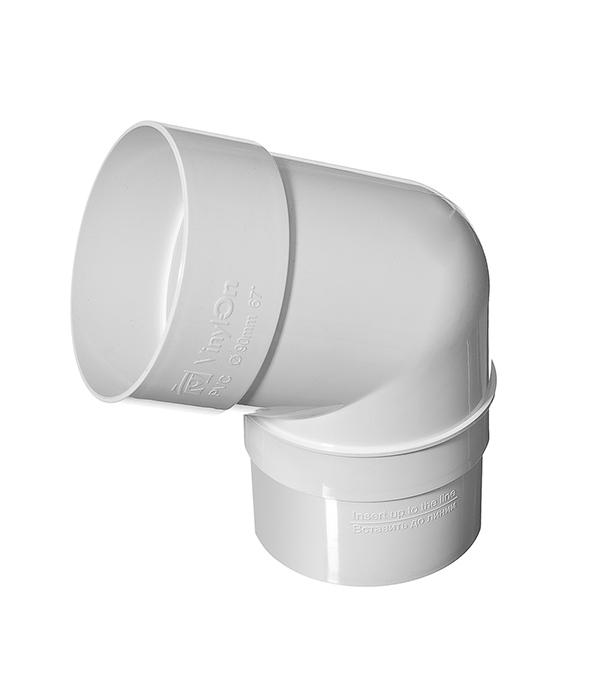 Колено трубы Vinyl-On пластиковое d90 мм 67° белое желоб водосточный vinyl on пластиковый 3 м коричневый кофе