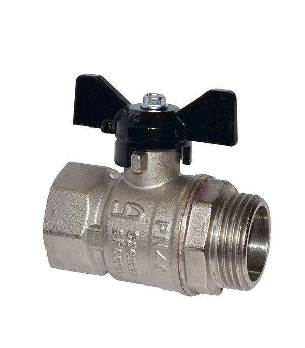 Краншаровый1/2в/нбабочкаLD кран шаровый муфтовый ld pn40 ду15 1 2 в в стандартнопроходной стальной