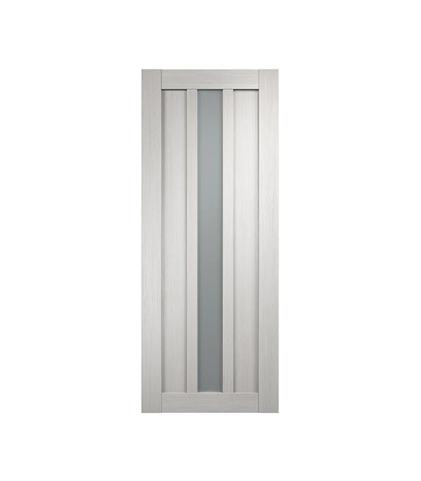 Дверное полотно экошпон Интери 3-1 Белый дуб со стеклом 700х2000 мм без притвора дверная ручка банан где в санкт петербурге