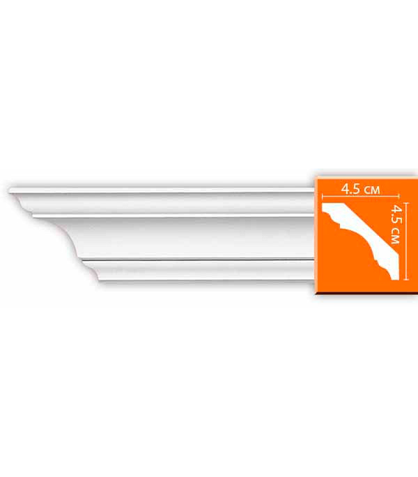 Плинтус из полиуретана Decomaster 45х45х2400 мм decomaster багет decomaster 808 552 размер 61х26х2900мм
