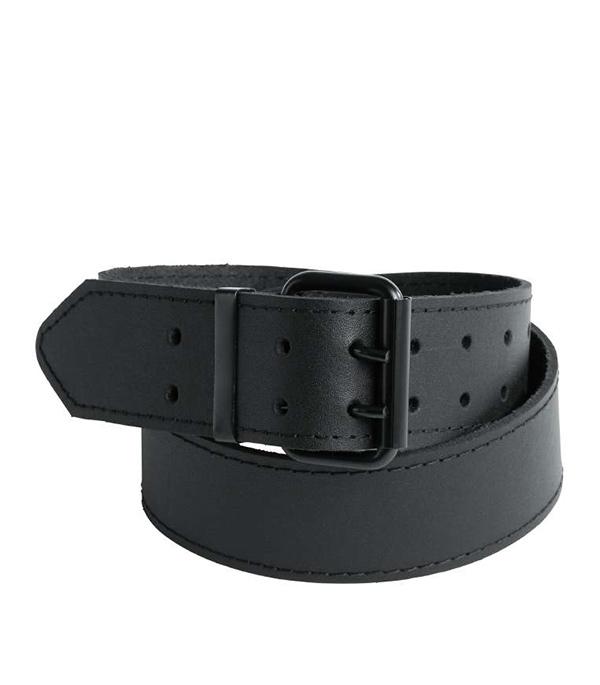 Ремень для брюк черный, кожа KWB Стандарт