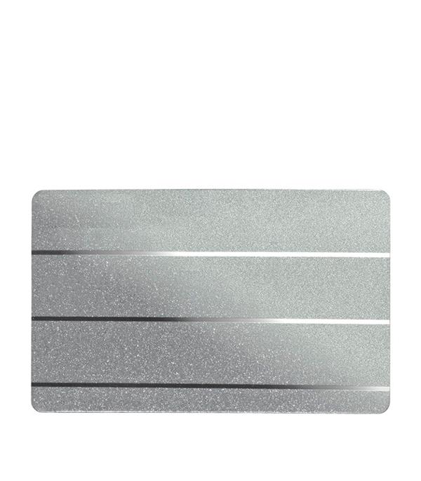 Комплект для ванной комнаты 1,7х1,7 м A150AS сереб. металлик с мет. полосой